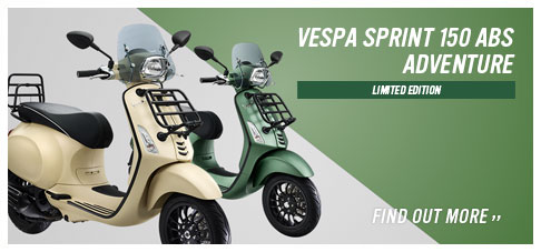 V特別限定車「Vespa Sprint 150 ABS ADVENTURE」登場